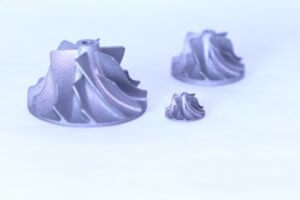 3D printed stainless steel impellers